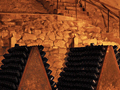 The Cray�res in the cool cellars some of the deepest in Reims at Dom Ruinart