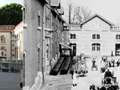 Krug's Entrance Yard in Reims - Today & the1930's