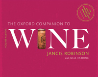 The Oxford Companion To Wine 4th Edition by Jancis Robinson MW & Julia Harding MW