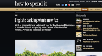 Alice Lascelles on English sparkling wine's new fizz