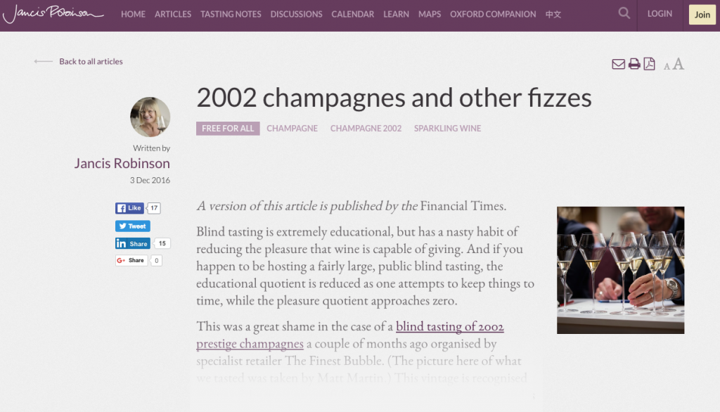 Jancis Robinson - 2002 champagnes and other fizzes