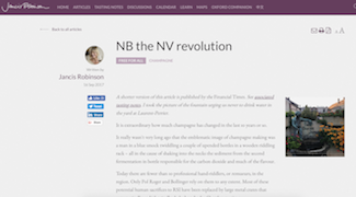 Jancis Robinson: the NV revolution