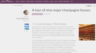 Jancis Robinson: A Tour of Nine Major Champagne Houses
