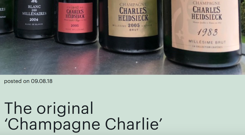The Original 'Champagne Charlie'