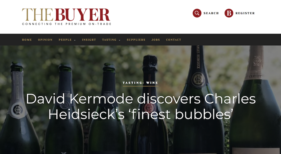 David Kermode Discovers Charles Heidsieck's 'Finest Bubbles'