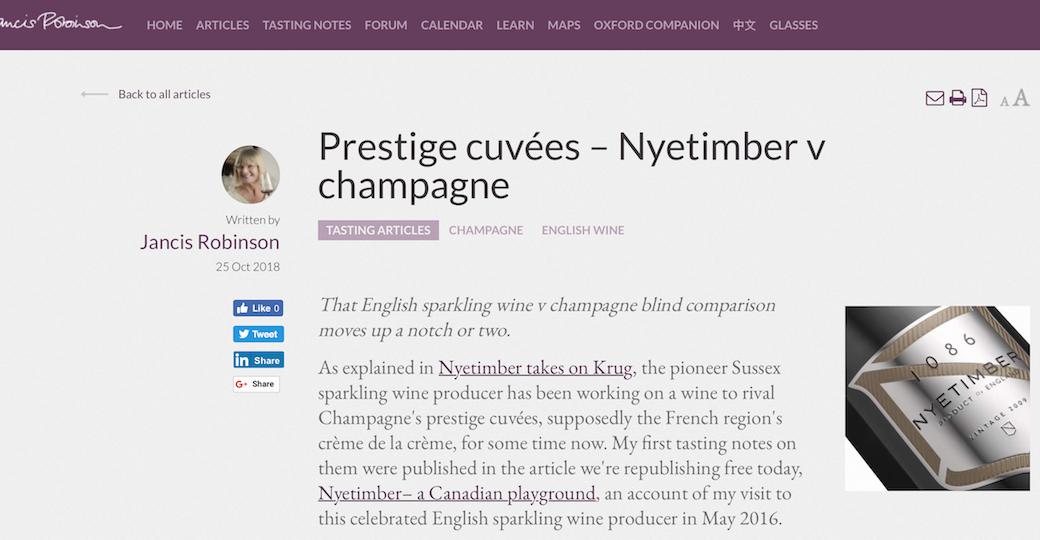 Prestige Cuvées – Nyetimber v Champagne