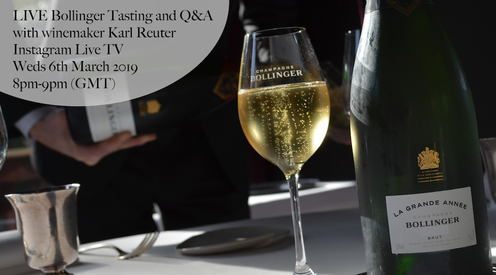 LIVE Bollinger Tasting and Q&A