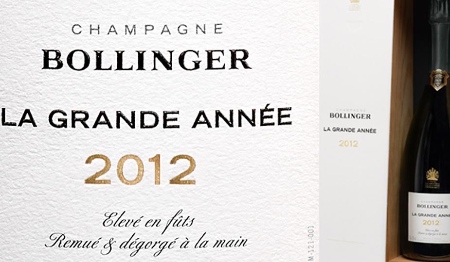 New Release: Bollinger La Grande Année 2012