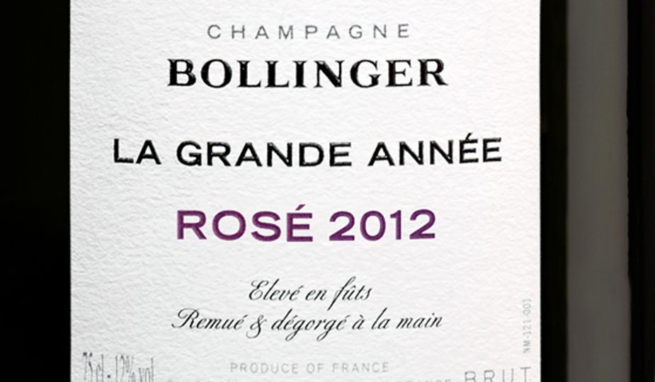 New Release: Bollinger La Grande Annee Rose 2012