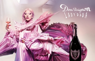 Dom Perignon x Lady Gaga advertising campaign