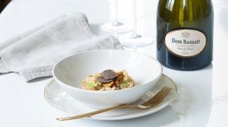 A dish to compliment Dom Ruinart Blanc de Blancs 2009