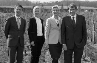 Michel Fauconnet, Alexandra Pereyre de Nonancourt and Stéphanie Meneux de Nonancourt and Bernard de Nonancourt