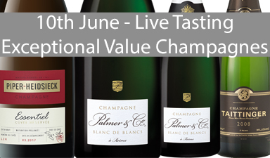 Exceptional Value Champagnes - Live Tasting