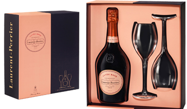 Laurent-Perrier Rose Flutes Gift Set