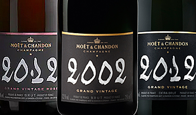 Moet & Chandon Grand Vintage 02' 12' Rose 12'