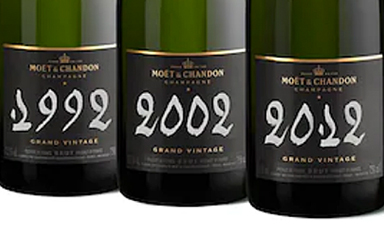 Moet & Chandon Grand Vintage 92' 02' 12'