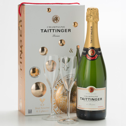 Taittinger Brut R�serve Glasses Gift Set