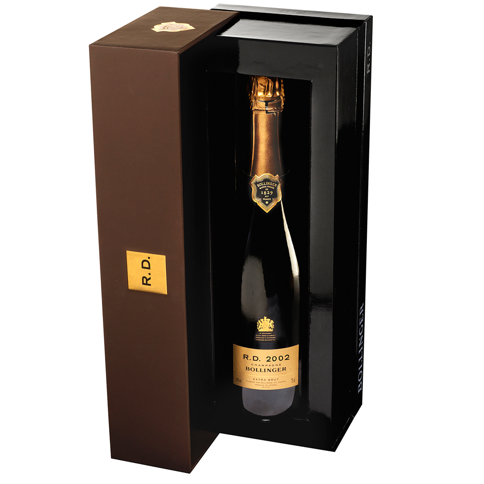 bollinger r d 2002 75cl gift box buy champagne same day. Black Bedroom Furniture Sets. Home Design Ideas