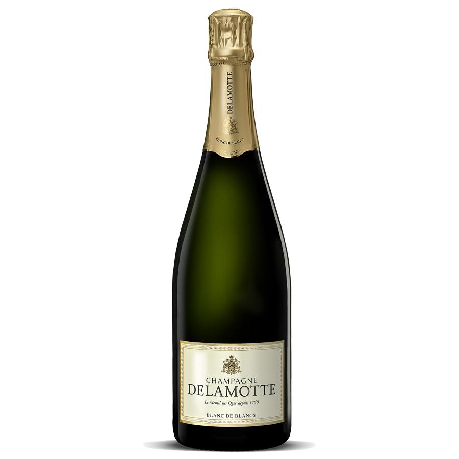 Delamotte blanc de blancs nv 75cl gift box buy champagne for Champagne delamotte