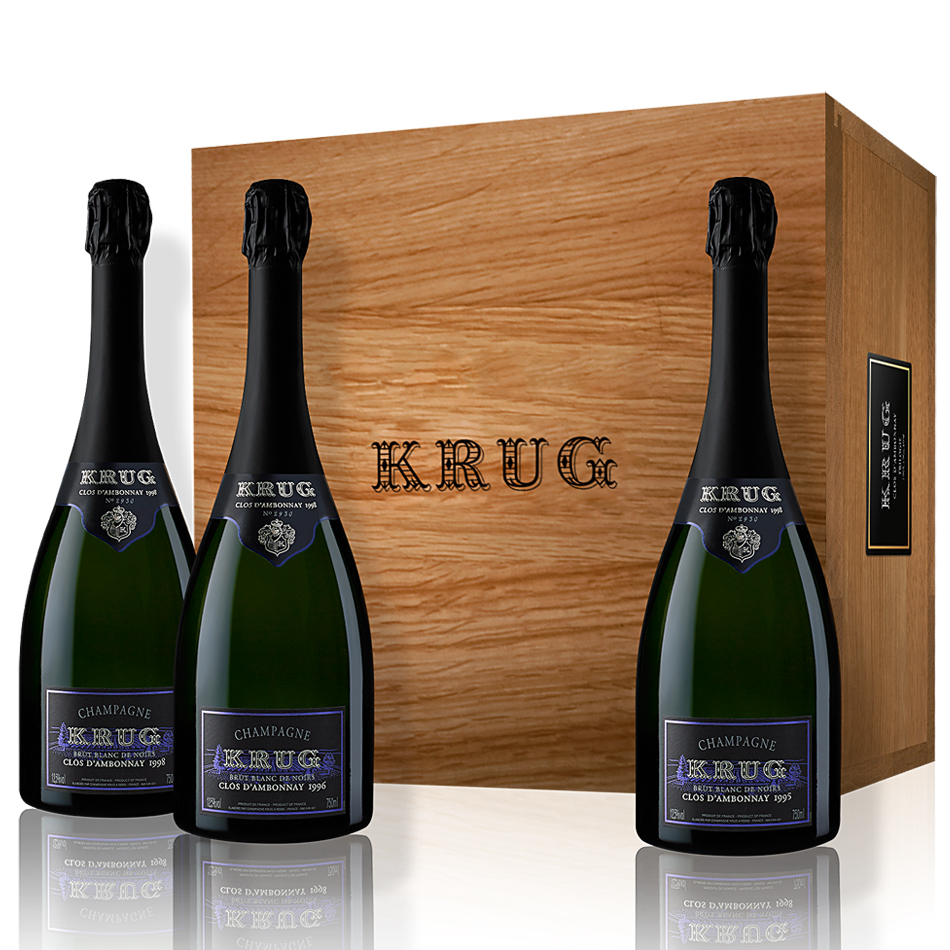 krug clos d 39 ambonnay trilogy 75cl gift box buy champagne