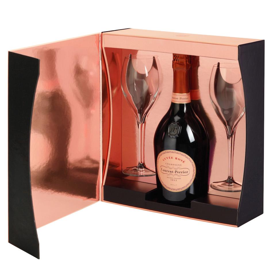 Laurent-Perrier Rose Flutes Gift Set  sc 1 st  The Finest Bubble & Laurent-Perrier Rose Flutes Gift Set NV 75cl Gift Box - Buy ...
