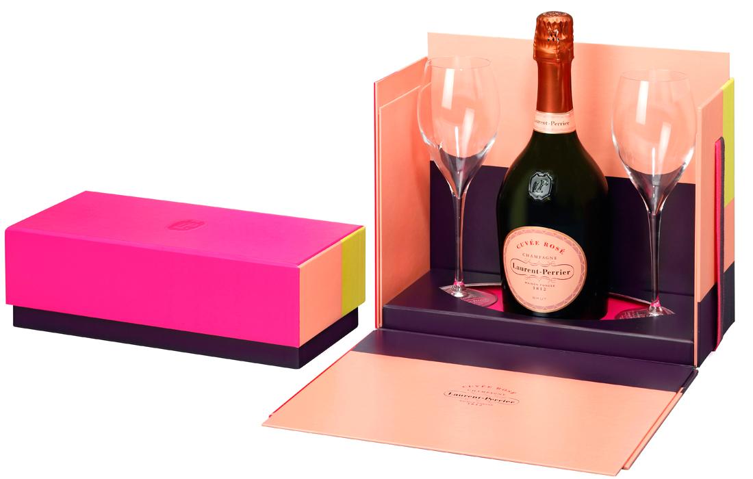 Laurent Perrier Ros Flutes Gift Set Nv Same Day