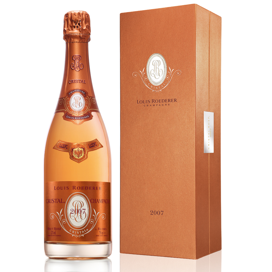 louis roederer cristal rose 2007 75cl gift box buy champagne same day 2 hour delivery. Black Bedroom Furniture Sets. Home Design Ideas
