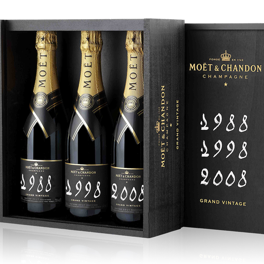 Moet & Chandon Grand Vintage Trilogy 75cl Gift Box - Buy Champagne same day 2 hour delivery