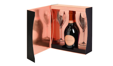 Laurent-Perrier Rose Flutes Gift Set NV