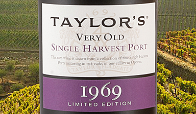 Taylor's Single Harvest Port 1969