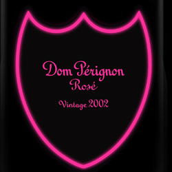 Dom Perignon Rose Luminous Label 2002