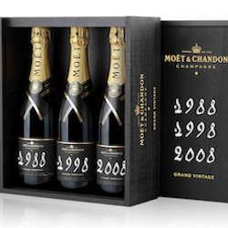 Moet & Chandon Grand Vintage 88,98,08 Trilogy